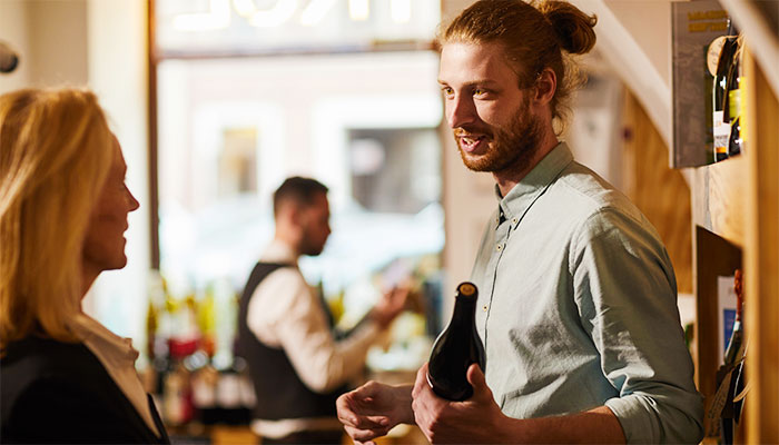 Wine jobs in the tasting room focus on customer service